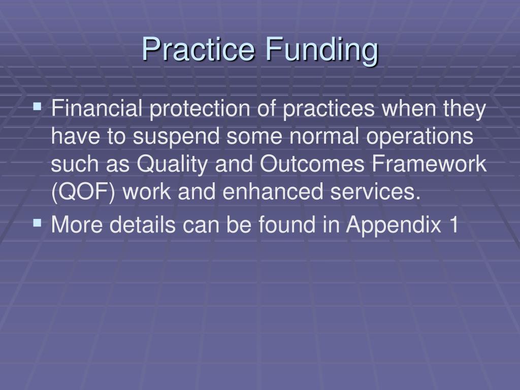 Practice Funding