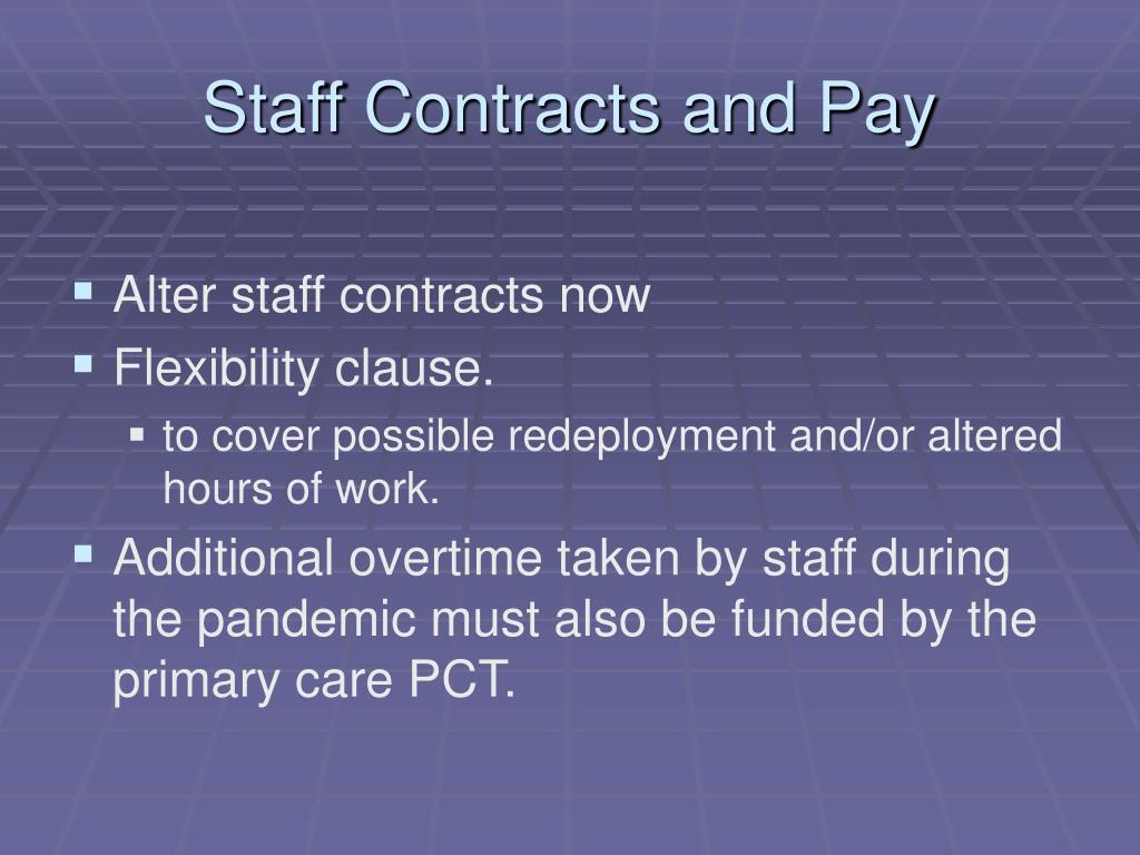 Staff Contracts and Pay