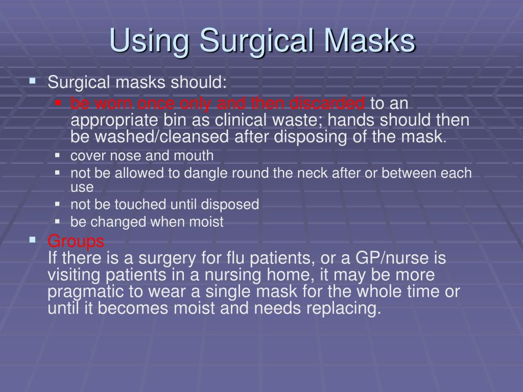 Using Surgical Masks
