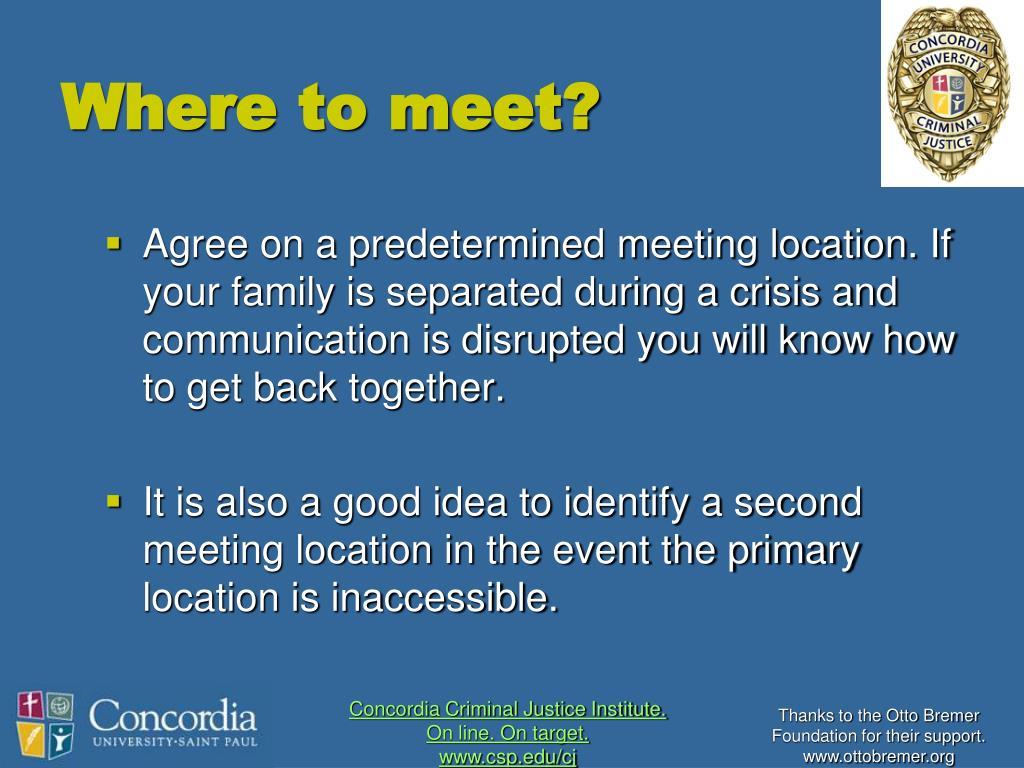 Where to meet?