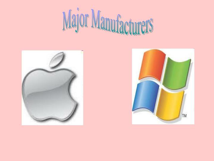 Major Manufacturers