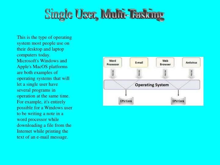 Single User, Multi-Tasking