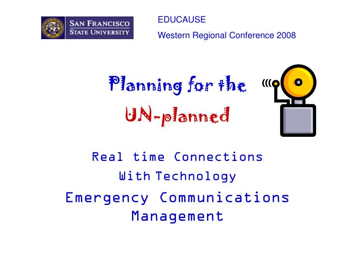 Real time connections with technology emergency communications management l.jpg