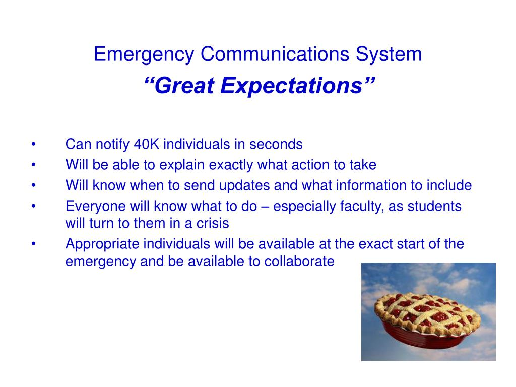 Emergency Communications System