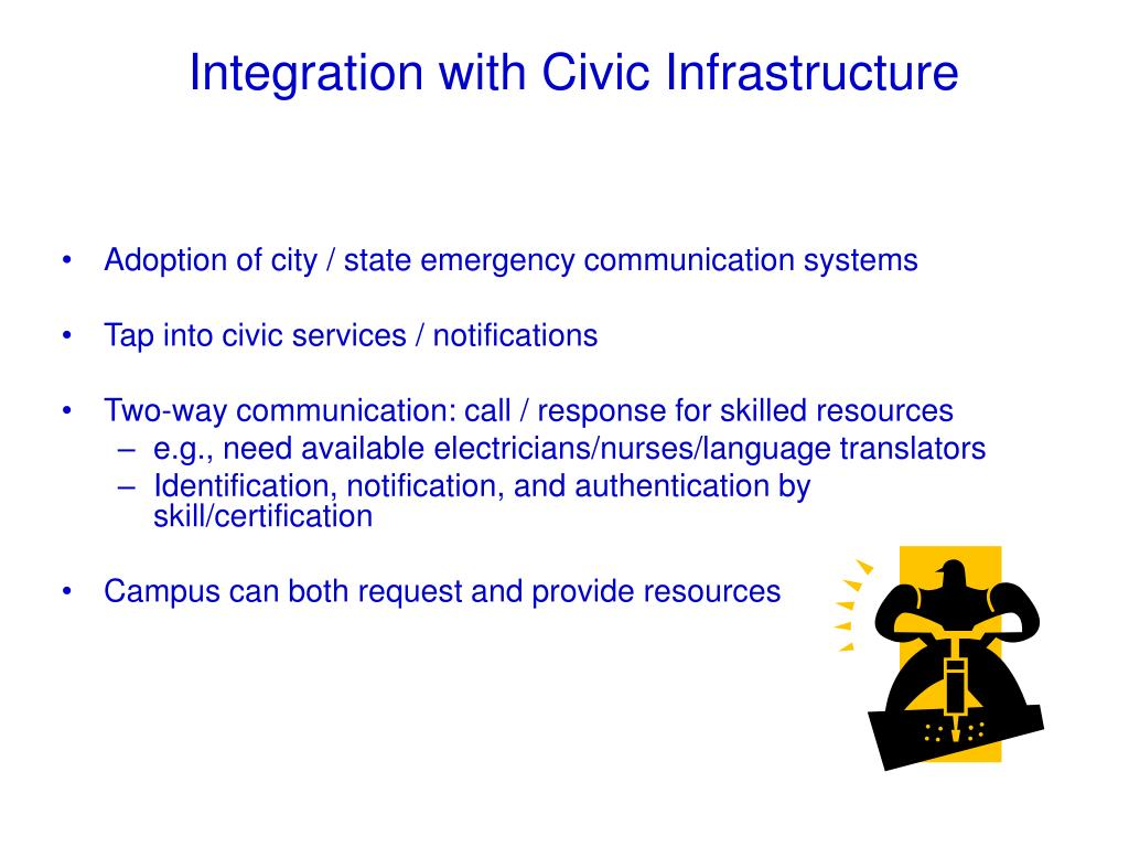 Adoption of city / state emergency communication systems