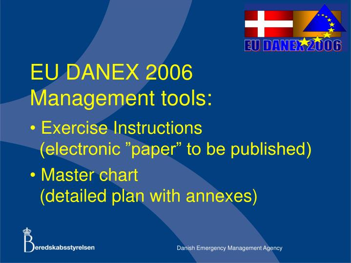 Eu danex 2006 management tools