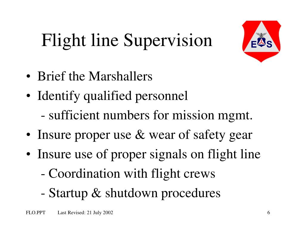 Flight line Supervision