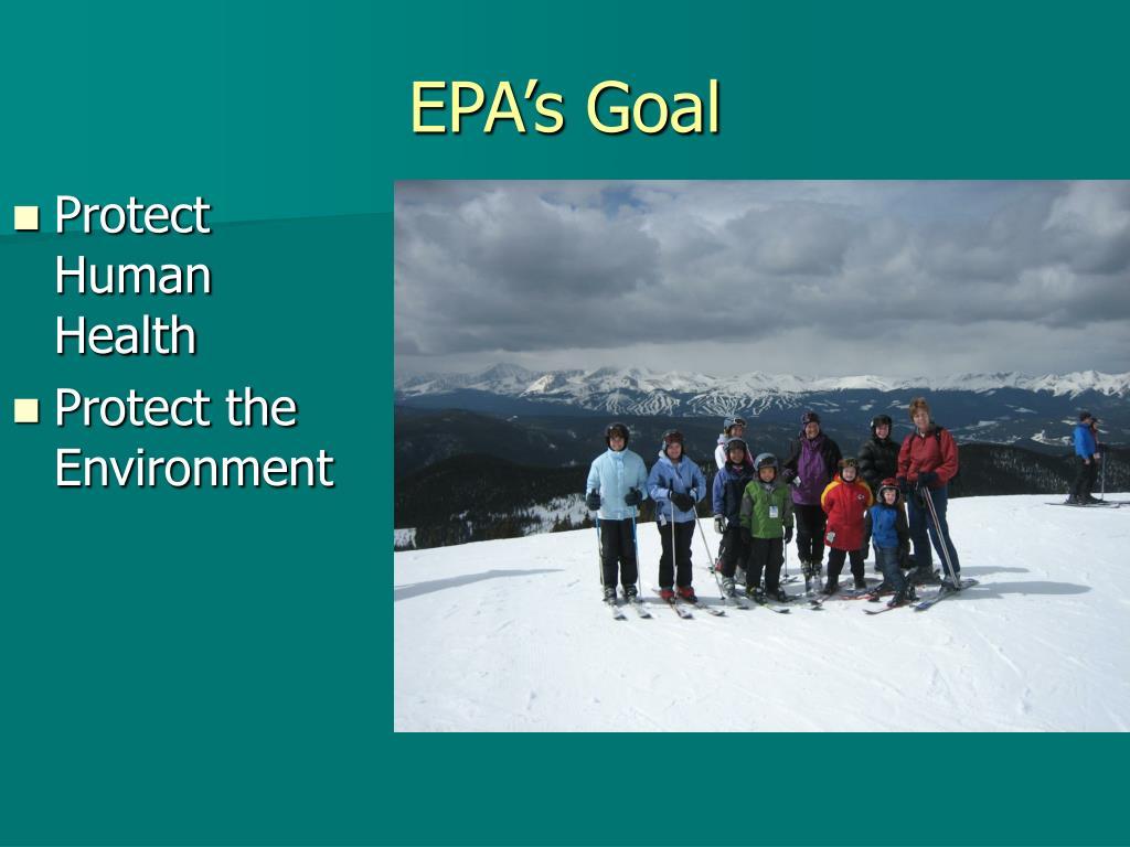 EPA's Goal