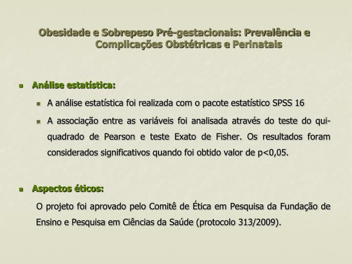 Obesidade e Sobrepeso Pré-gestacionais: Prevalência e Complicações Obstétricas e