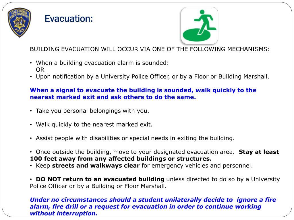 Evacuation: