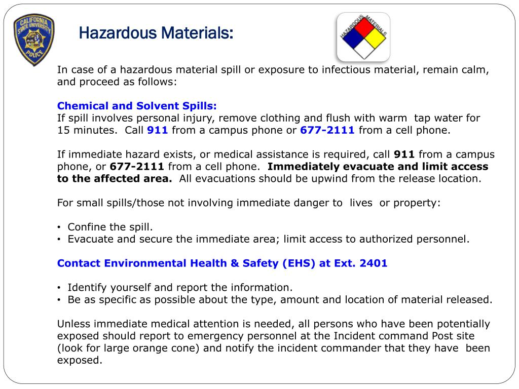 Hazardous Materials: