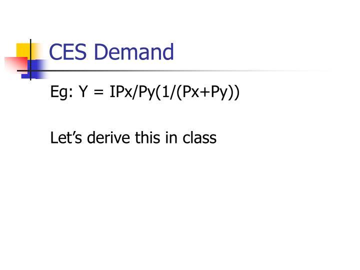 CES Demand