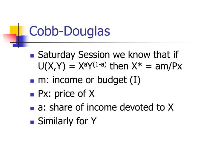 Cobb-Douglas