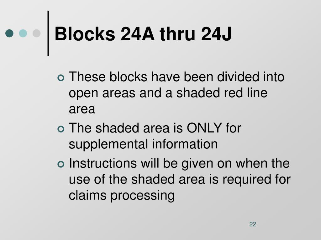 Blocks 24A thru 24J