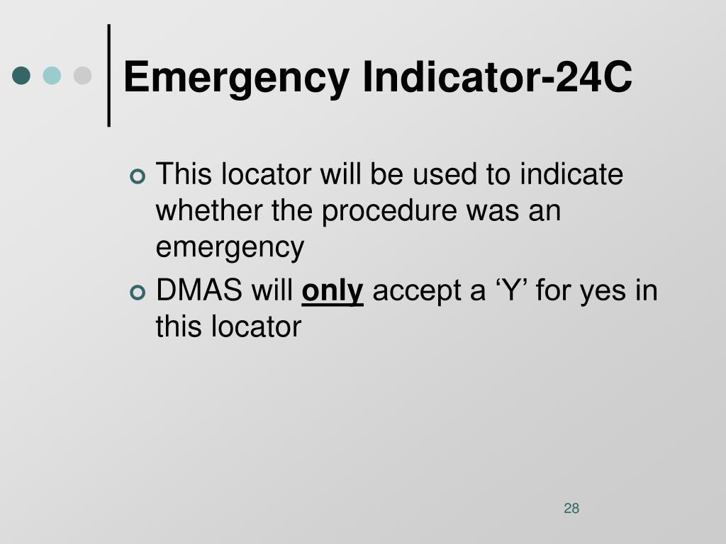 Emergency Indicator-24C