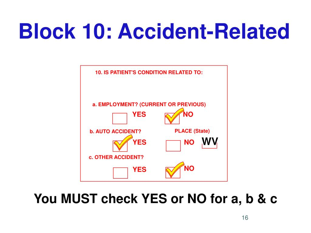 Block 10: Accident-Related
