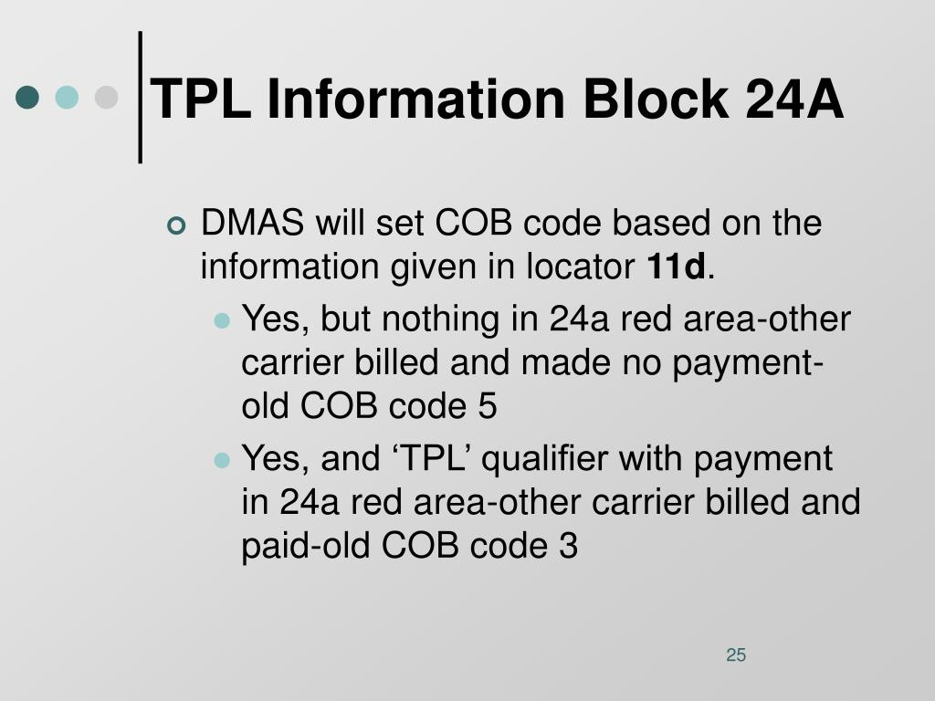 TPL Information Block 24A
