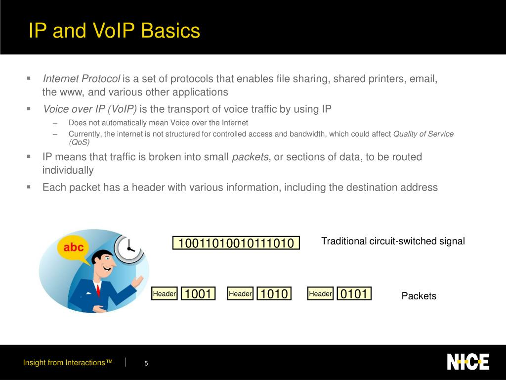 IP and VoIP Basics