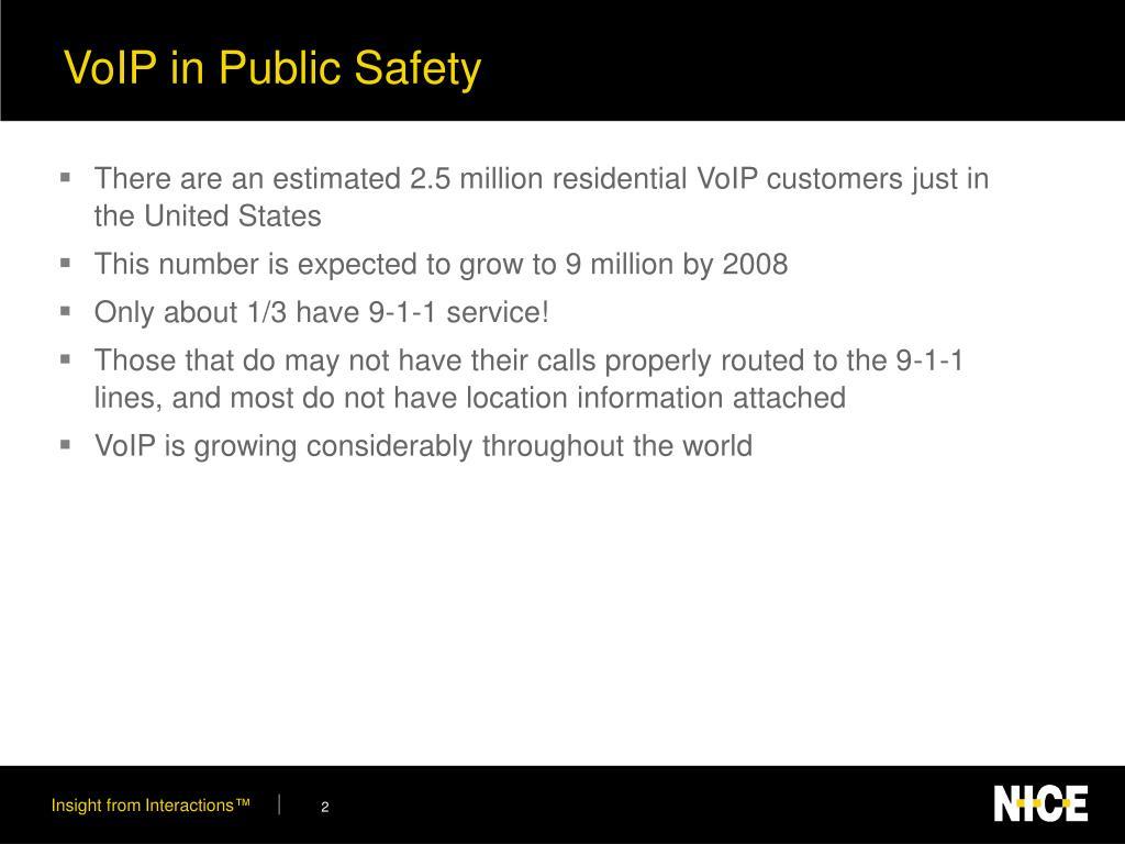 VoIP in Public Safety