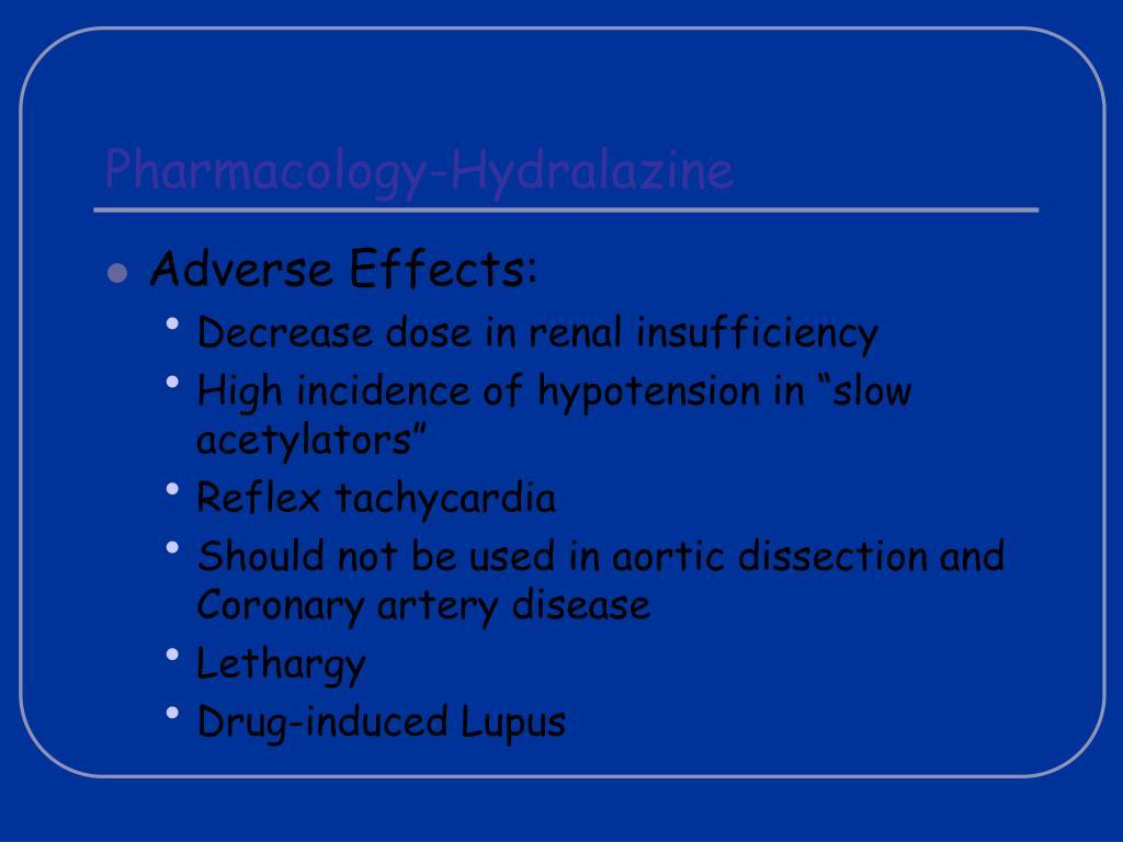 Pharmacology-Hydralazine
