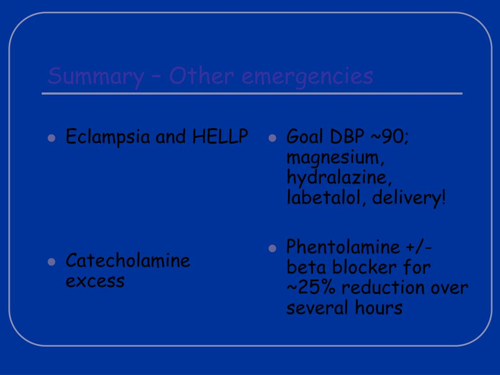 Eclampsia and HELLP