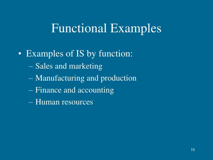 Functional Examples