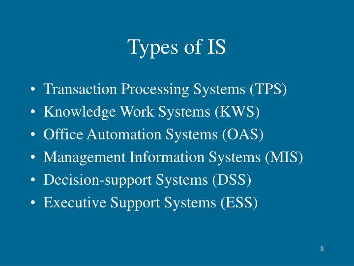 Types of IS