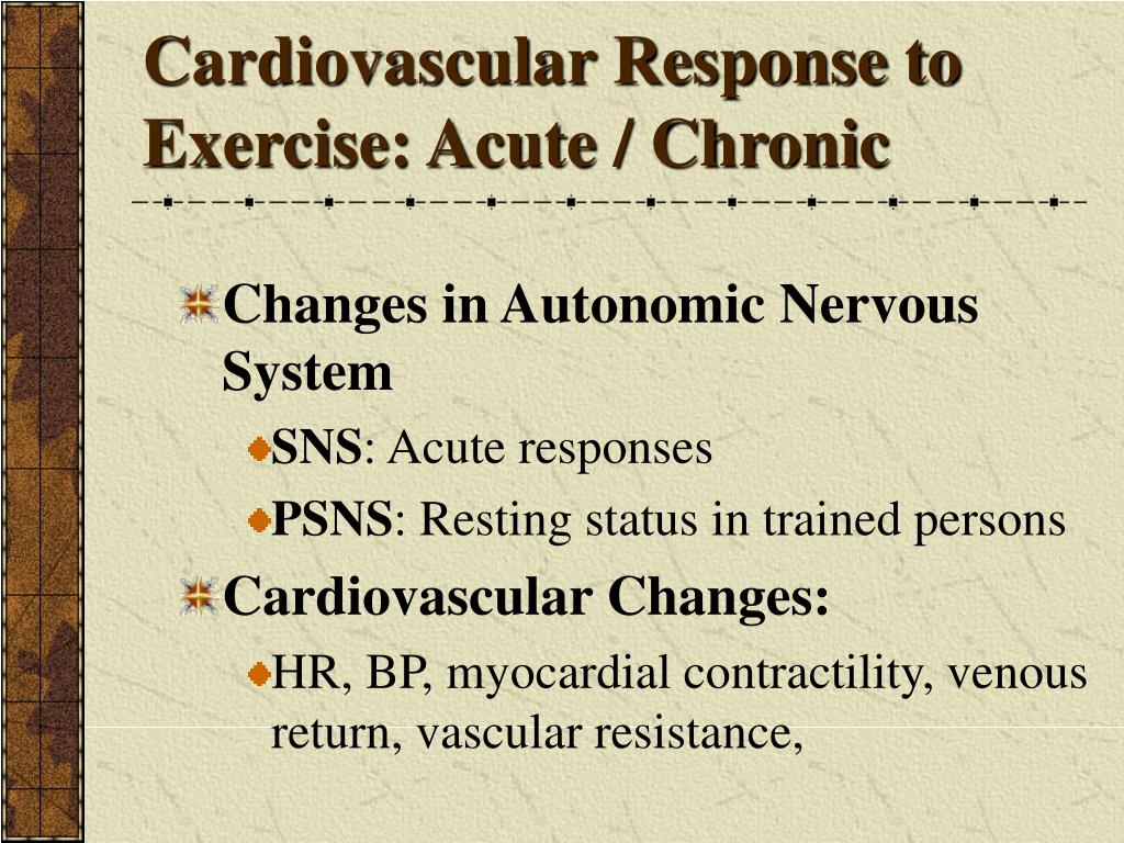 Cardiovascular Response to Exercise: Acute / Chronic