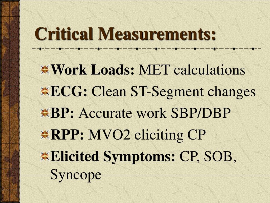 Critical Measurements: