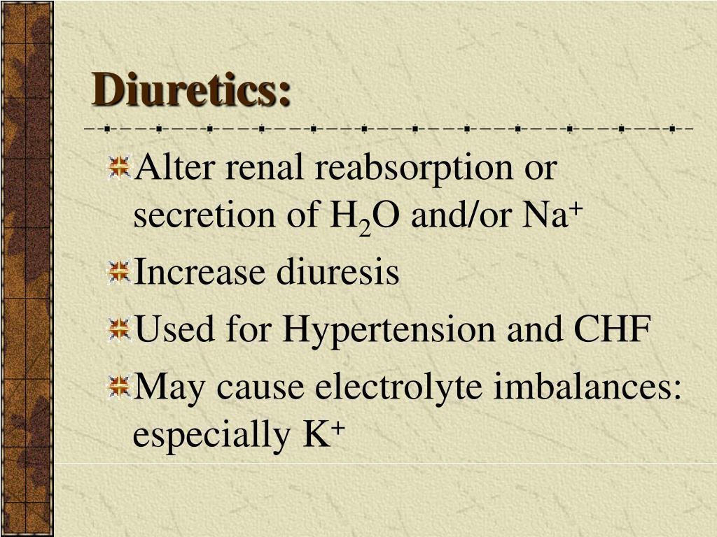 Diuretics: