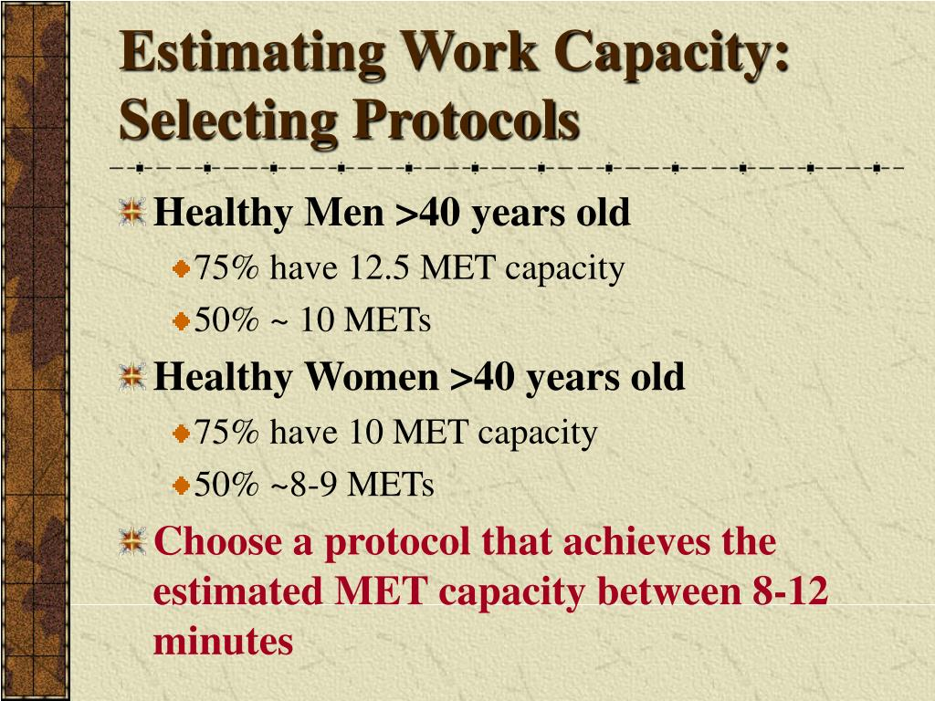 Estimating Work Capacity: Selecting Protocols