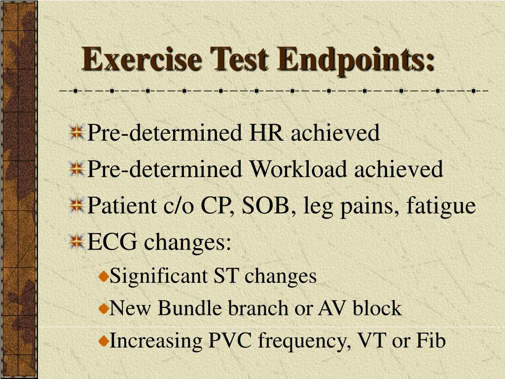 Exercise Test Endpoints: