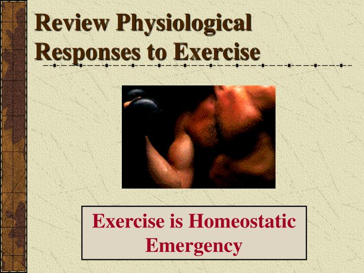Review physiological responses to exercise