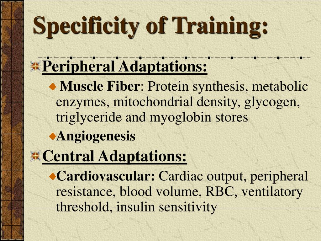 Specificity of Training: