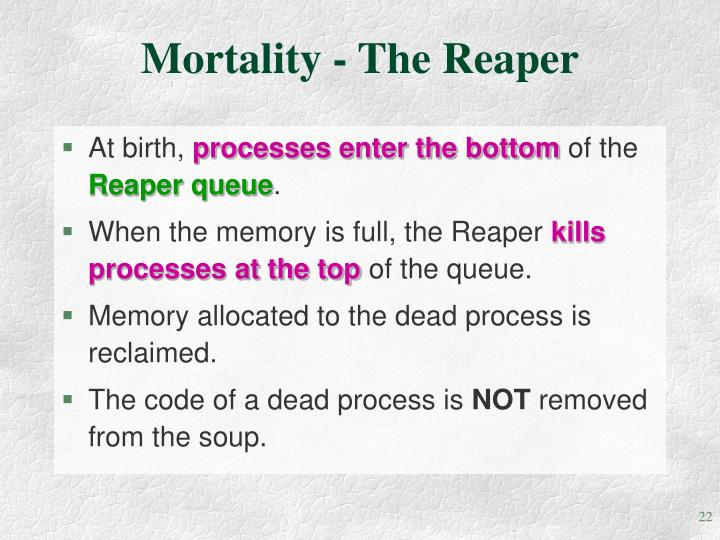 Mortality - The Reaper