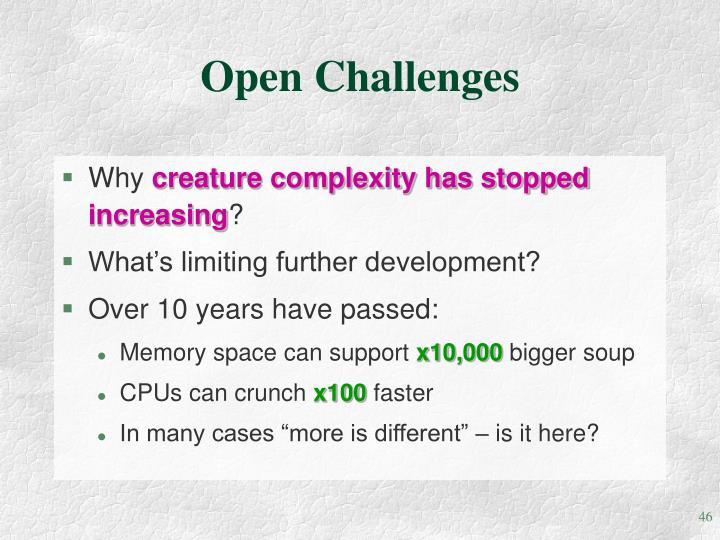 Open Challenges