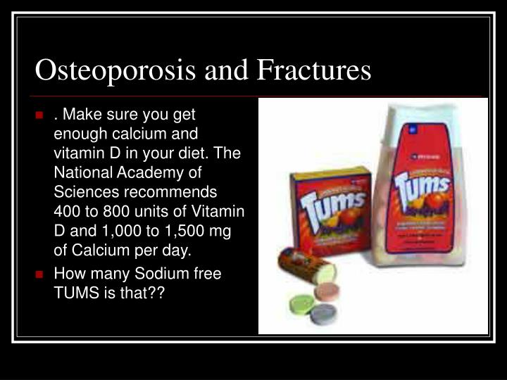 Osteoporosis and Fractures