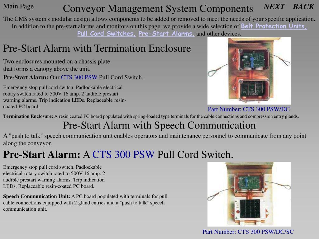 Conveyor Management System Components