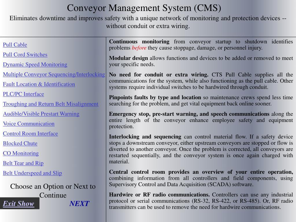 Conveyor Management System (CMS)