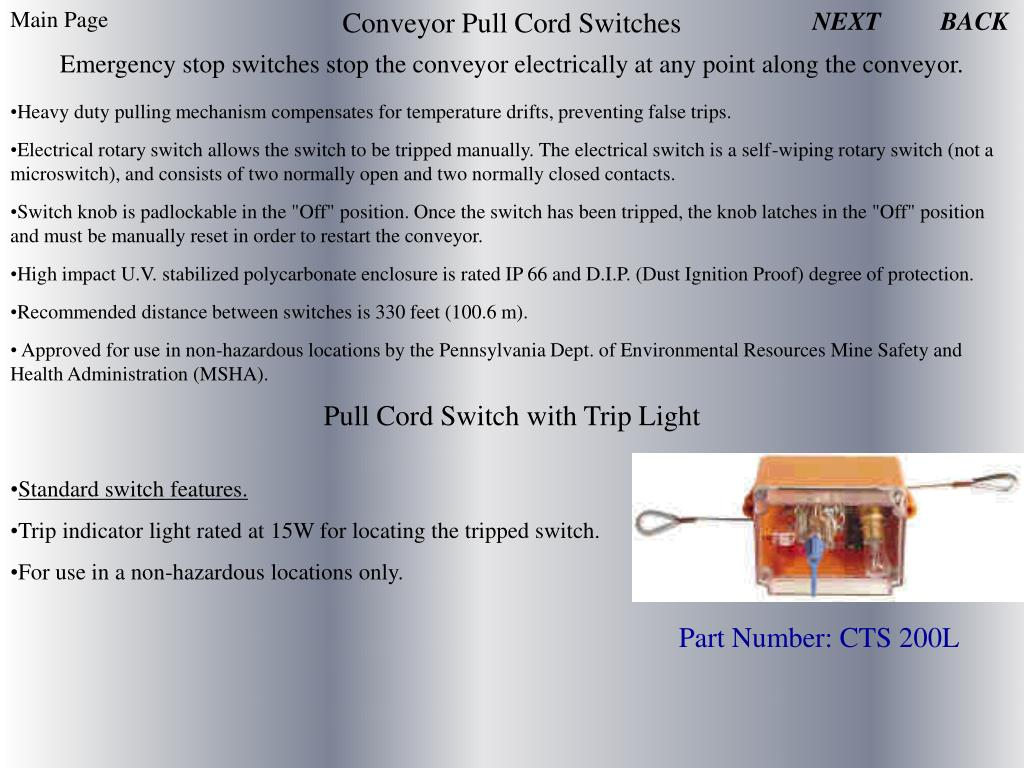Conveyor Pull Cord Switches