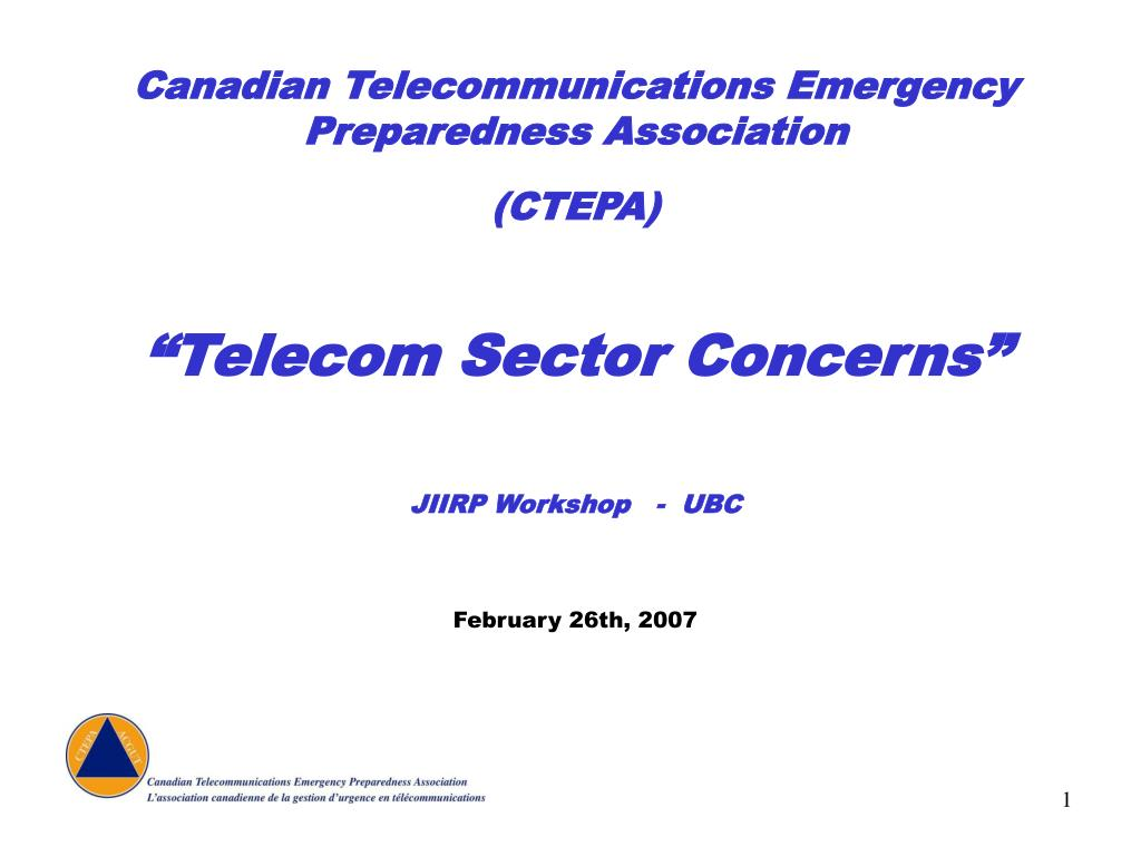 Canadian Telecommunications Emergency Preparedness Association