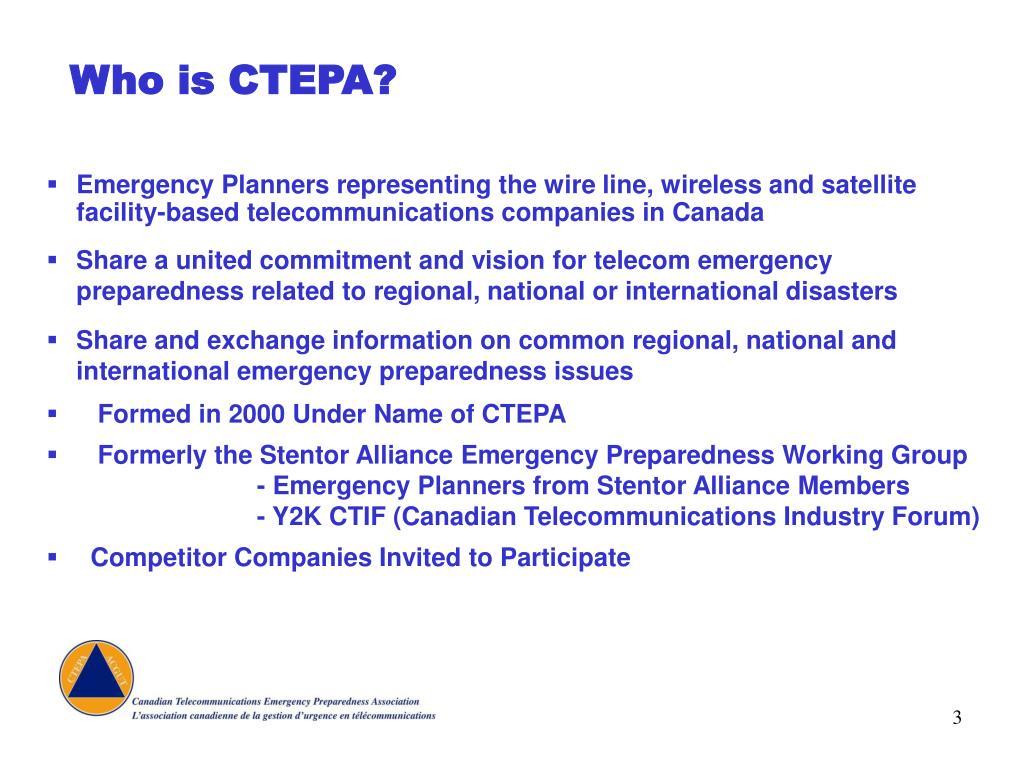Who is CTEPA?