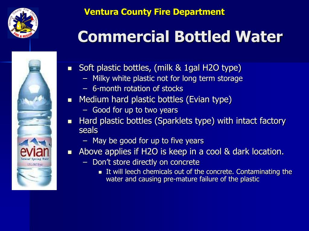 Commercial Bottled Water