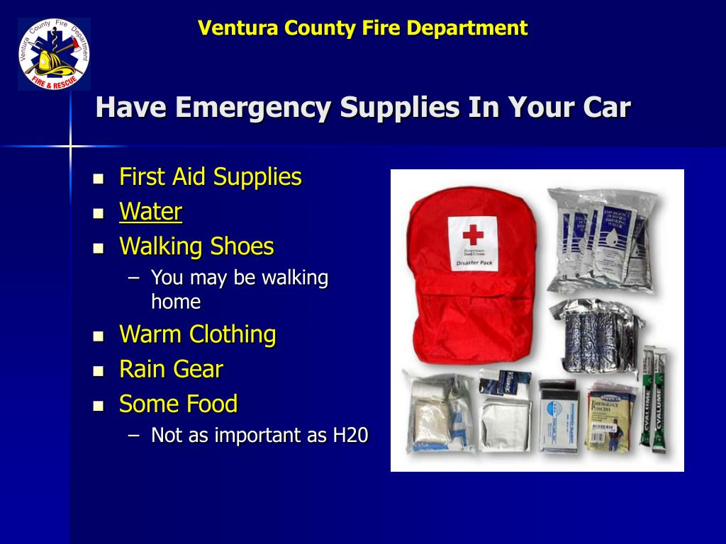 Have Emergency Supplies In Your Car