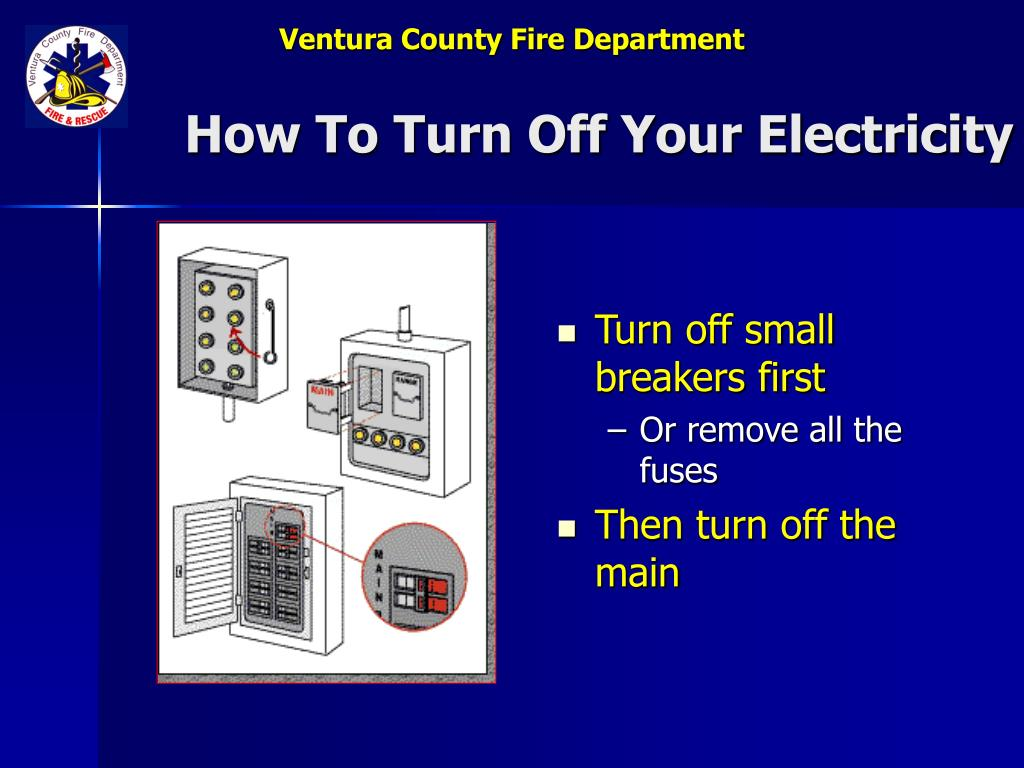 How To Turn Off Your Electricity
