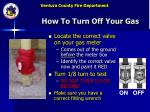 how to turn off your gas
