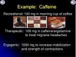 example caffeine
