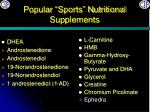 popular sports nutritional supplements
