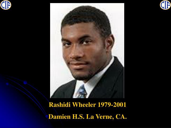 Rashidi Wheeler 1979-2001