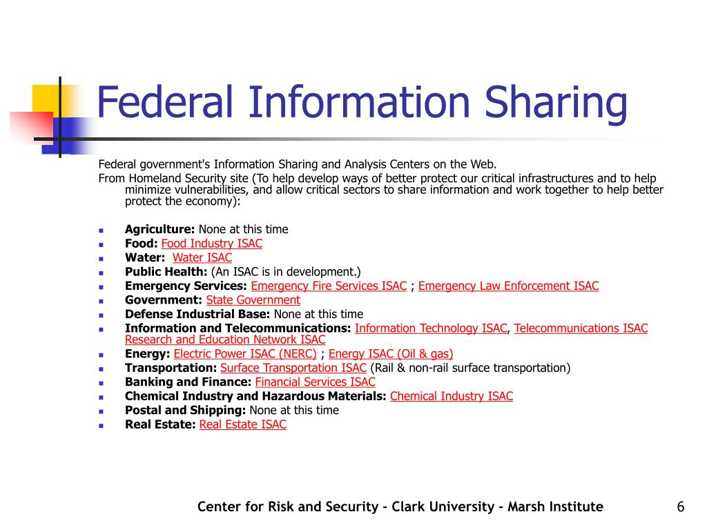 Federal Information Sharing